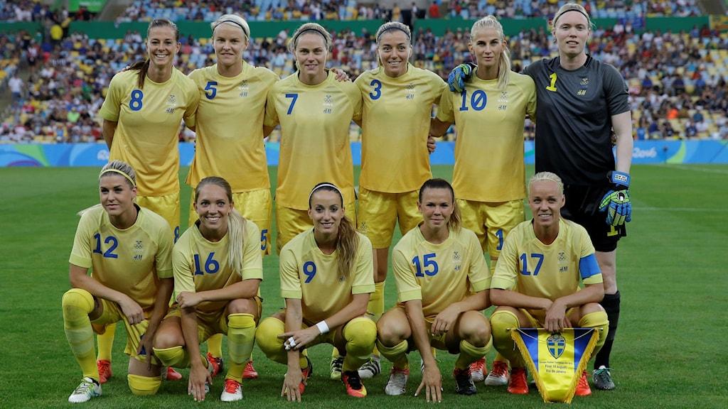 Svenska startelvan i OS-finalen.