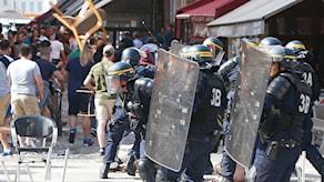 Två personer har dömts till fängelse för upploppen i Marseille.