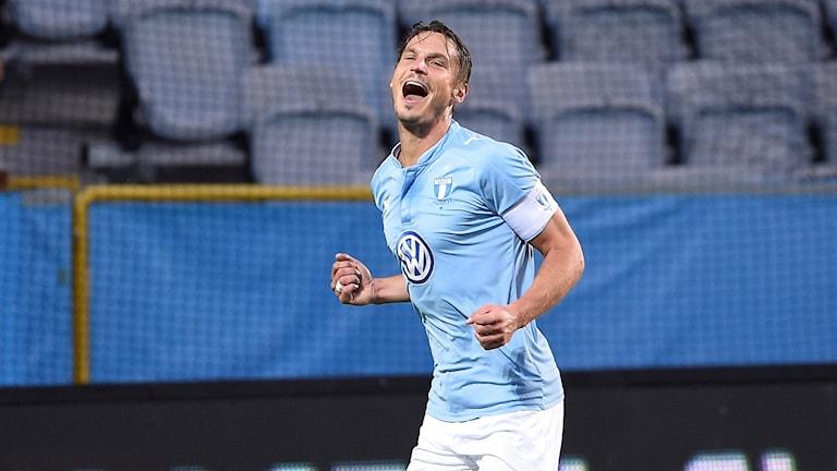 Markus Rosenberg gjorde två mål mot Göteborg.