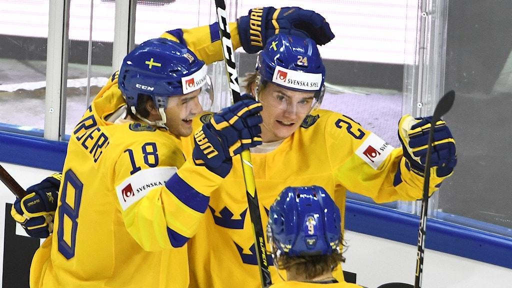Tre Kronors Elias Andersson inledde målskyttet.