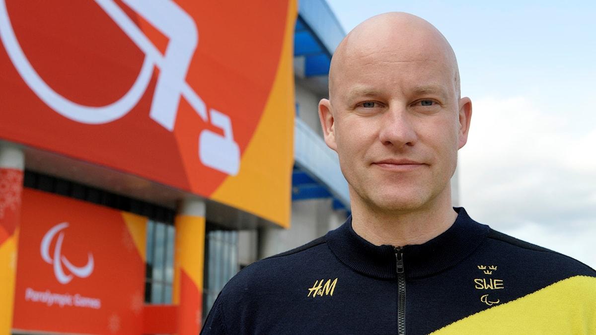 Niclas Grön, chef i den svenska paralympicstruppen.