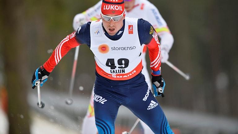 Alexander Legkov vid VM i Falun 2015.