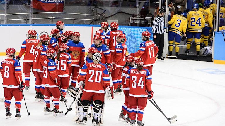 Ryssland vann mot Sverige i OS 2014.