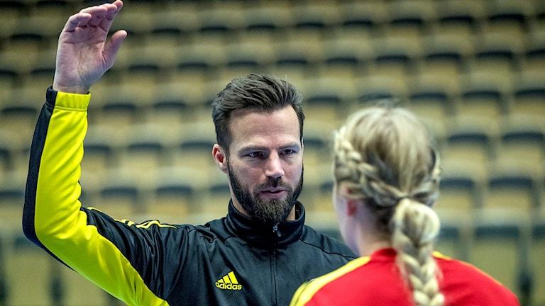 Sävehofs tränare Henrik Signell. Arkivbild.