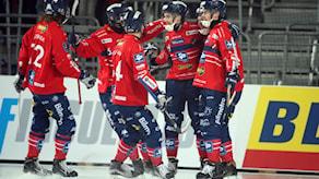 Edsbynjubel efter 1-0 av Tuomas Määttä under herrarnas SM-final i bandy mellan Edsbyns IF och Bollnäs GIF i Tele2 Arena i Stockholm