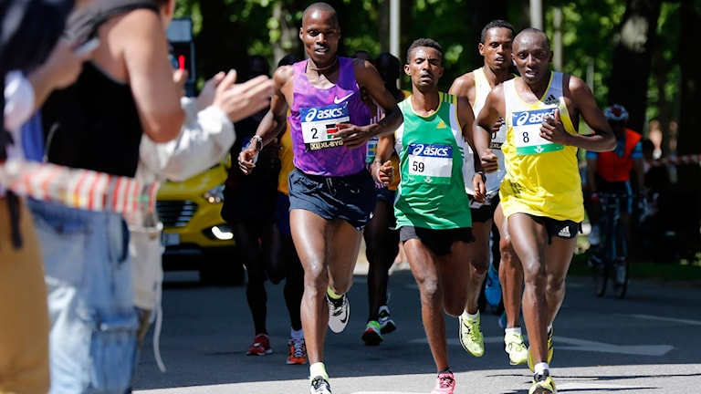 Stanley Kipchirchir Koech (2) vann Stockholm Marathon.