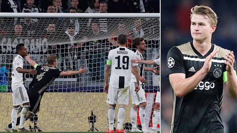 Matthijs de Ligt firar mål mot Juventus.