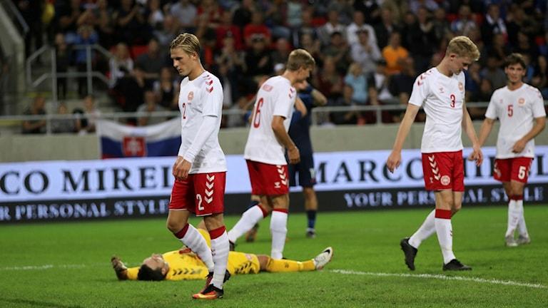Danskt depp mot Slovakien.