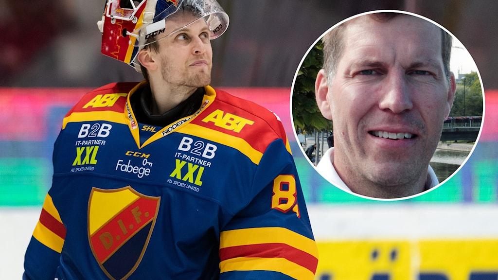 Djurgårdens målvakt Niklas Svedberg / Per Svartvadet.