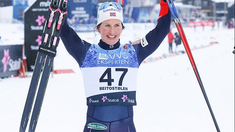Marit Bjørgen vann damernas 10 km (f) vid Beitosprinten 2016 i norska Beitostølen på lördage
