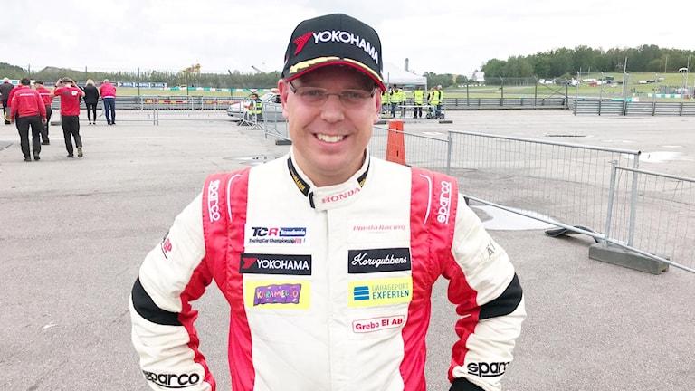 Mattias Andersson vann första heatet.