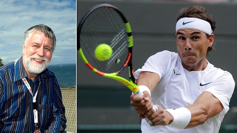 Björn Hellberg (t.v) och Rafael Nadal (t.h).