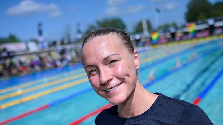 MALMÖ 2019-06-27  Sarah Sjöström på plats på Lindängsbadet i Malmö på torsdagen. Imorgon fredag drar sim-SM igång som en del av SM-veckan i Malmö.  Foto: Johan Nilsson / TT