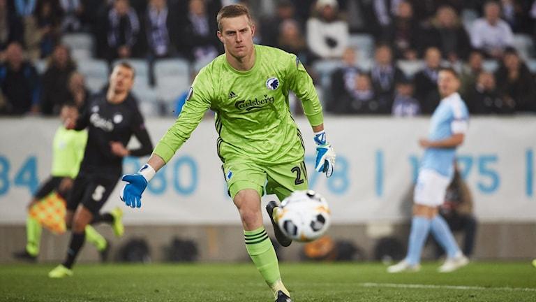 FC Köpenhamns målvakt Karl-Johan Johnsson.