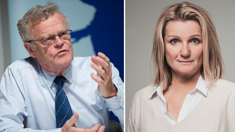 Björn Eriksson och Lena Sahlin.