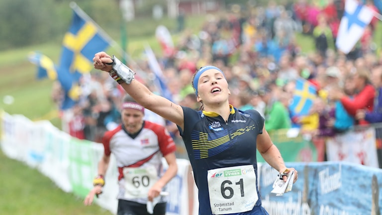 Tove Alexandersson efter VM-guldet i långdistans