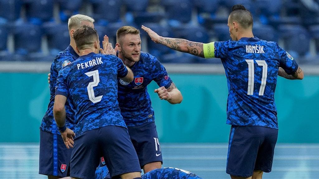 Slovakiskt måljubel mot Polen i EM.