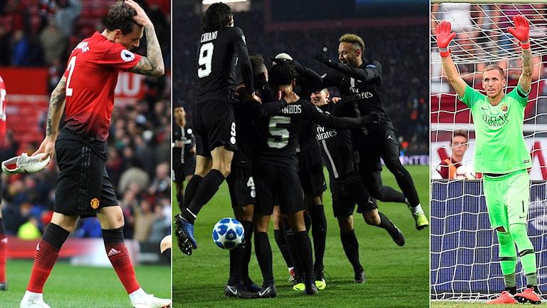 Manchester United ställs mot PSG, medan Roma får möta Porto.