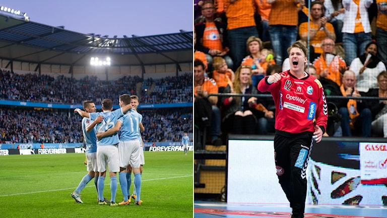 Fotboll och handboll i Sportextra.