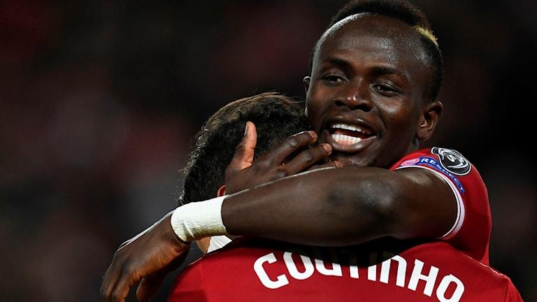 Liverpools Sadio Mané och Philippe Coutinho.