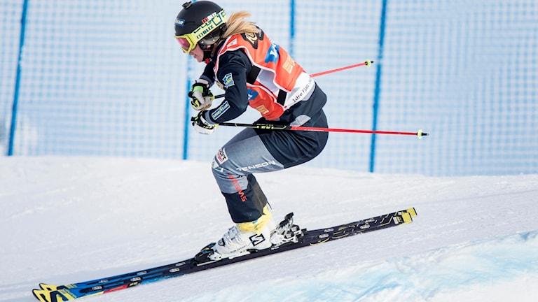 Sandra Näslund har fyrar raka pallplatser i världscupen.