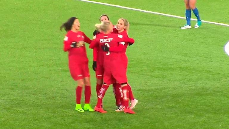 Göteborg fick jubla fem gånger borta mot Eskilstuna.