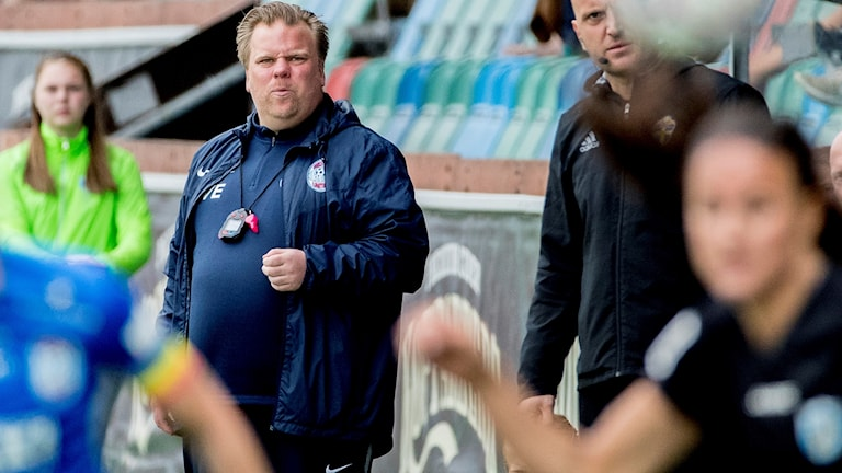 Eskilstunas tränare Viktor Eriksson.