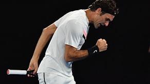 2018 Roger Federer i Australian Open. Foto: GREG WOOD/TT