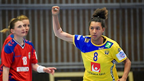 Jamina Roberts avgjorde mot Serbien.