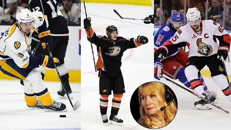 Collage bästa NHL-svenskarna