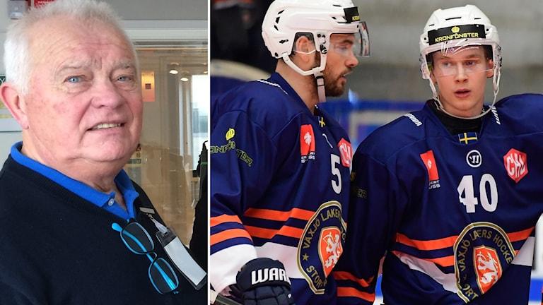 Radiosportens hockeyexpert L-G Jansson tror att Växjö Lakers blir mästare i CHL. Foto: Mikael Fritzon/TT samt SR.