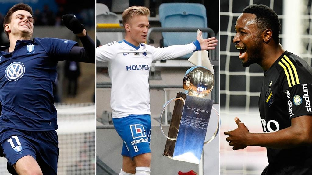MFF, Norrköping och AIK kämpar i toppen.