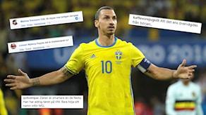 Reaktionerna var många efter Zlatans VM-besked.