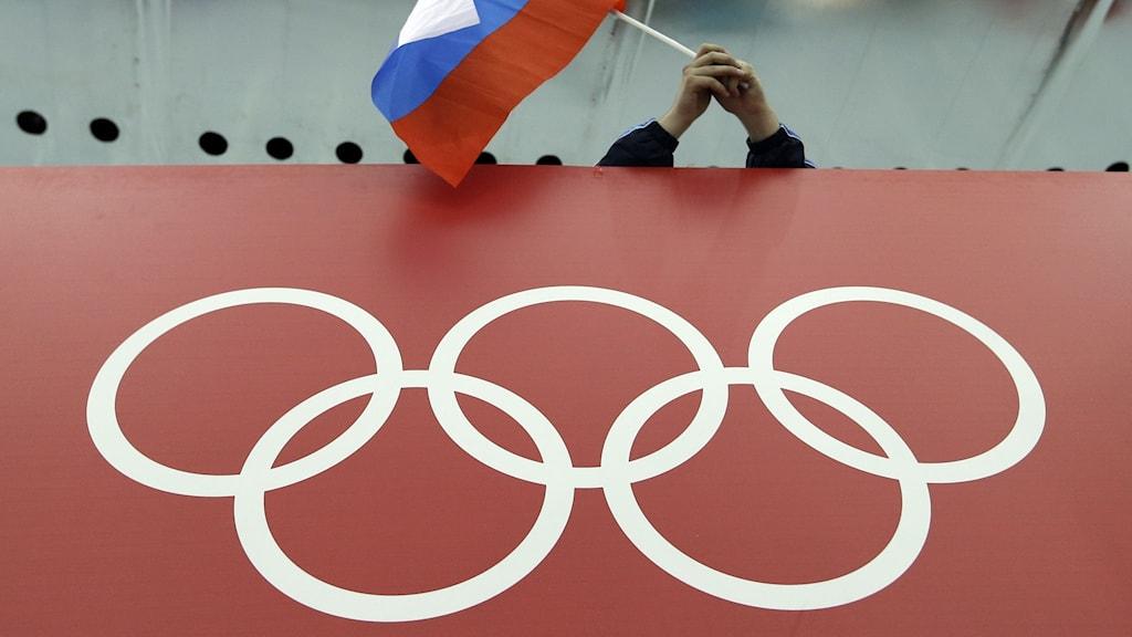 Ryssland och OS-ringarna.