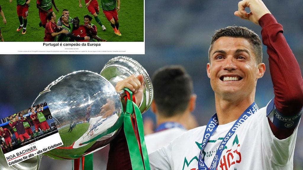 Cristiano Ronaldo är mannen på de flestas läppar dagen efter Portugals EM-guld.