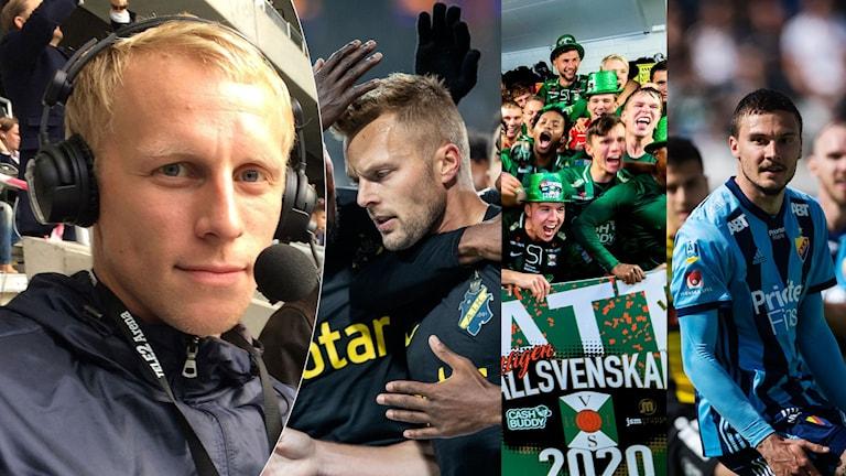 Richard Henrikssons allsvenska lista: Coronapausens tre vinnarlag. Foto: SR och TT
