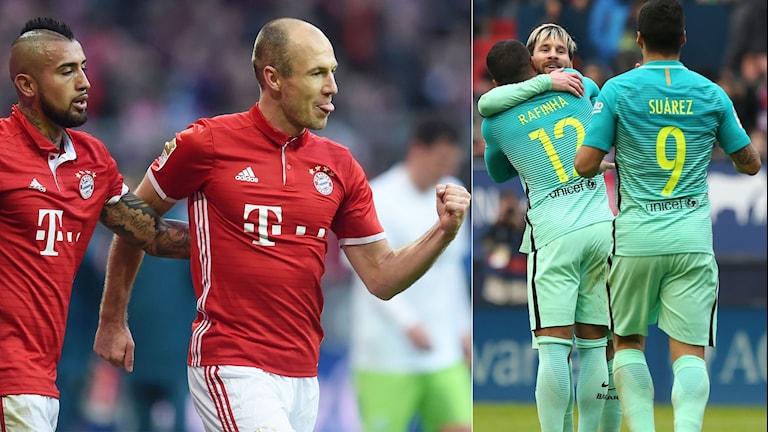 Bayern München kan lottas mot Barcelona.