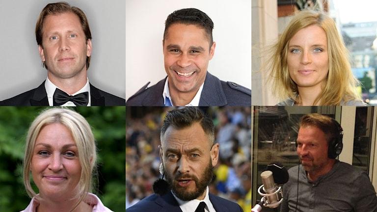 Profilerna tippar Italien-Sverige. Foto: TT och SR