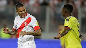 Perus kapten Paolo Guerrero missar VM. Arkivbild.