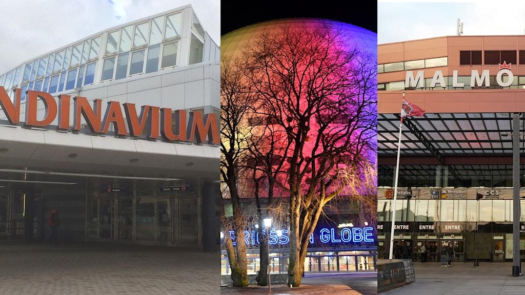 I Scandinavium, Globen eller Malmö Arena kommer det att spelas JVM-ishockey om några år.
