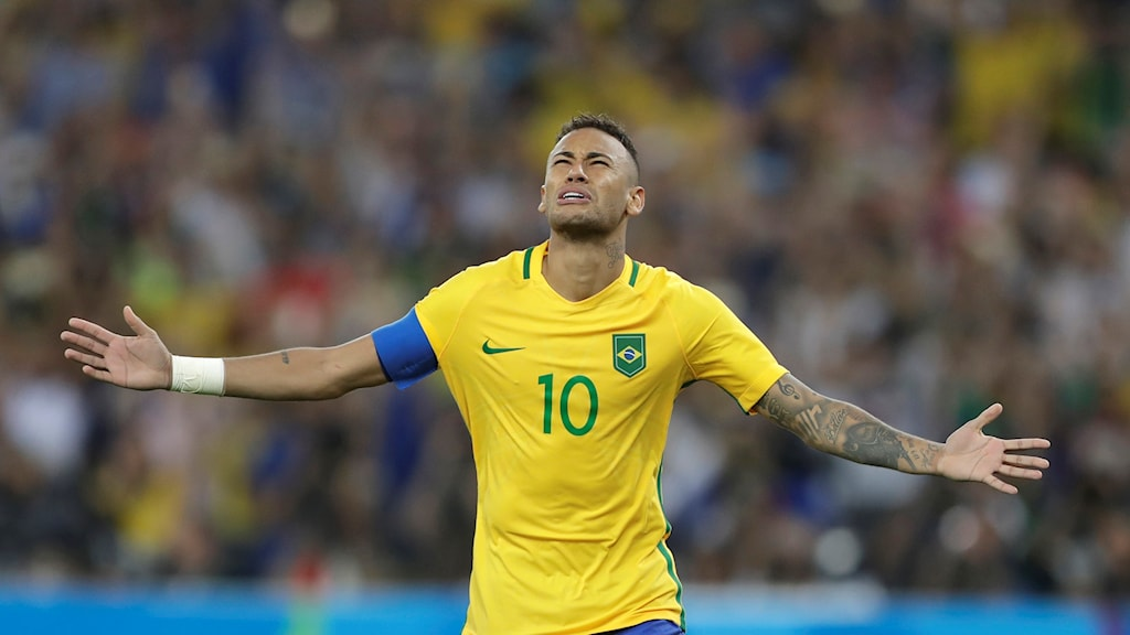 Neymar i tårar efter avgörandet.