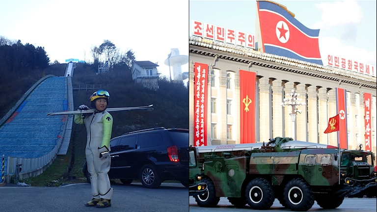 Backen till vänster ska det OS-tävlas i. Det ska det inte y Pyongyang, till höger.