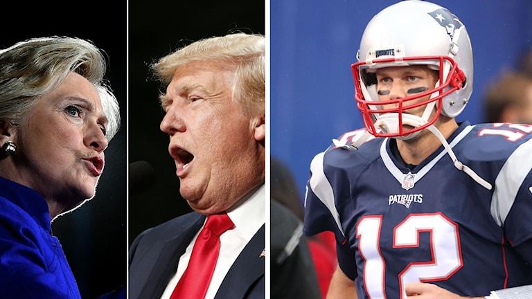 Tom Brady har hamnat i hetluften sedan han gett Trump sitt stöd. Foto: TT