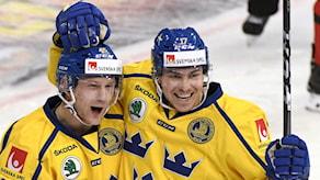 tre kronors Oscar Möller och Pär Lindholm. JUSSI NUKARI/TT