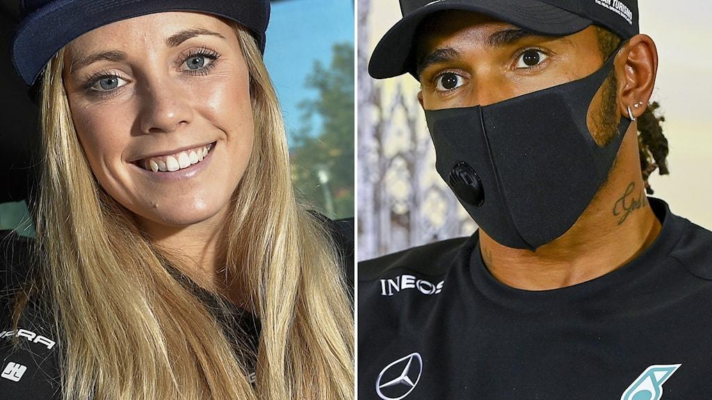 Mikaela Åhlin Kottulinsky / Lewis Hamilton.