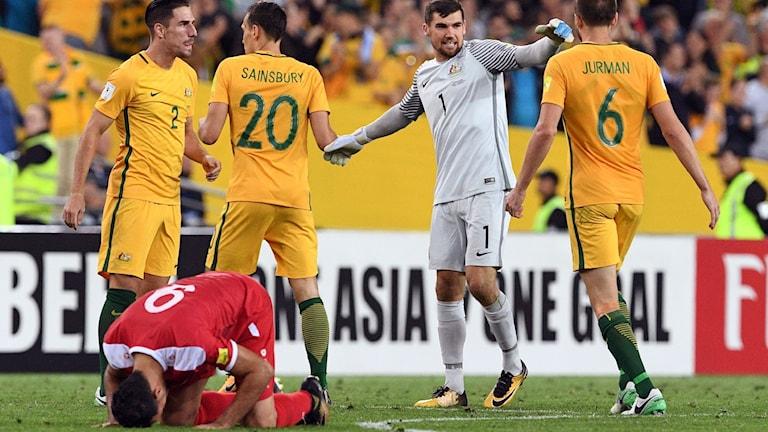 Syriens VM-hopp dog efter förlusten mot Australien.