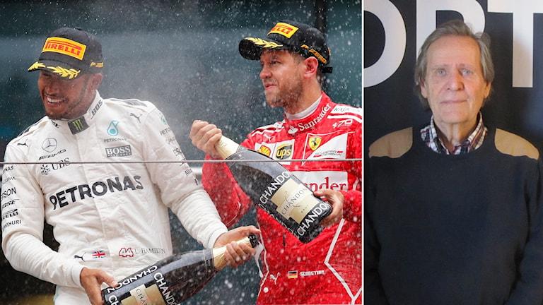 Lewis Hamilton och Sebastian Vettel efter Kinas GP.