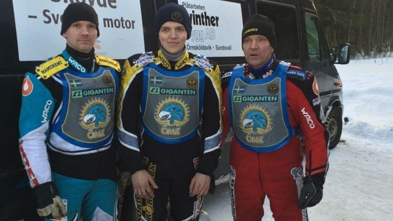 Niklas Svensson, Ove Ledström och Stefan Svensson . Foto: Privat