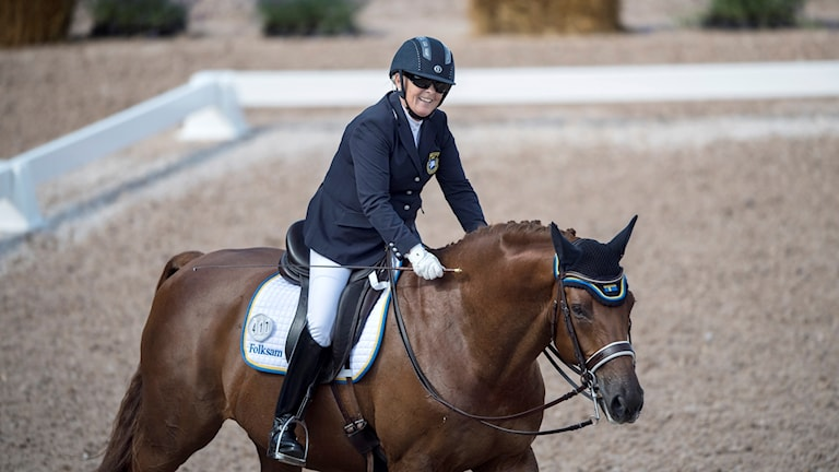 Louise Etzner Jakobsson på hästen Zernard. Arkivbild.