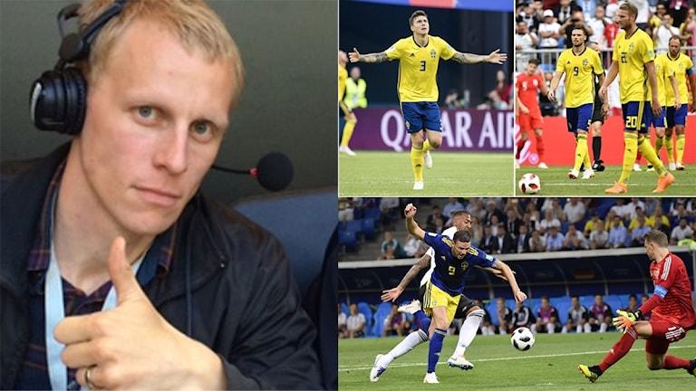 Expertens tre rubriker på svenska insatsen. Foto: SR och TT